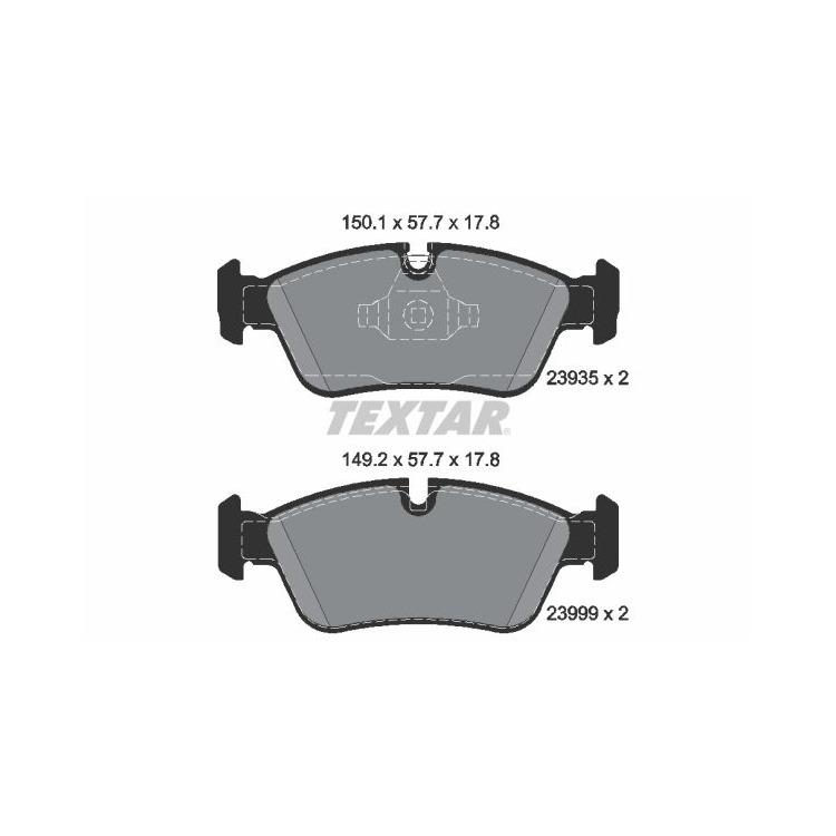 Textar Bremsscheiben + Bremsbeläge vorne BMW E87 120 E90 316 318 320