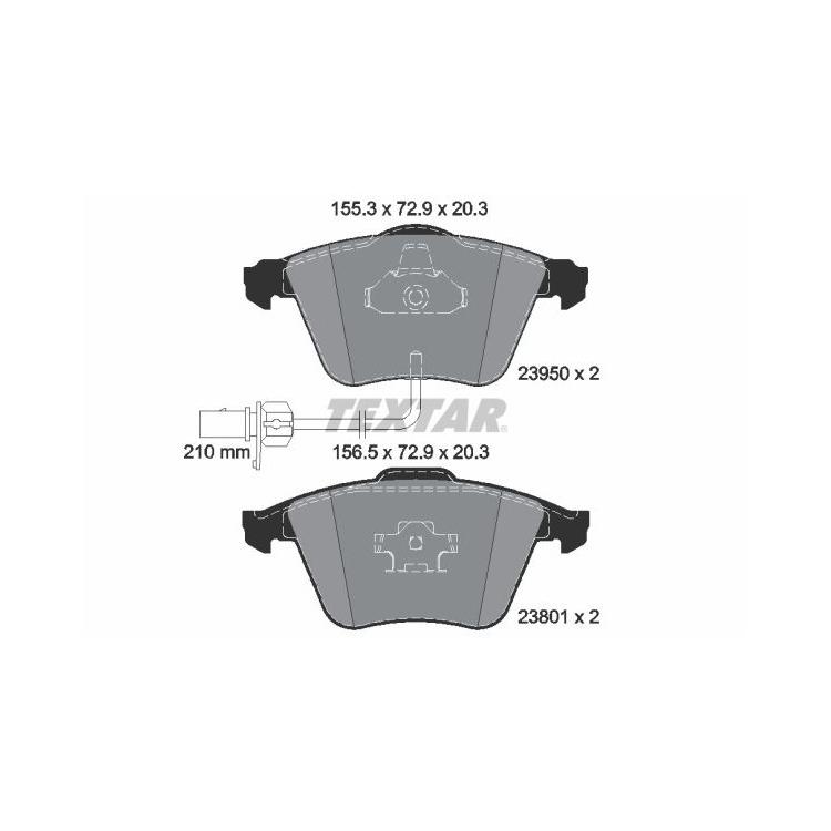 Textar Bremsbeläge vorne Audi A4 +Avant Cabrio A6 +Avant Allraod TDI FSI bei Autoteile Preiswert