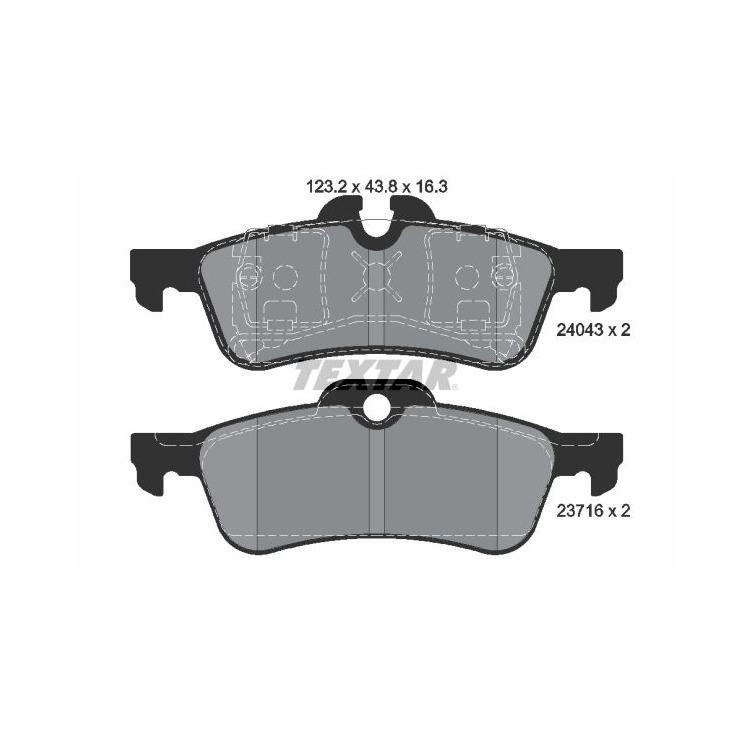 Textar Bremsbeläge hinten Mini + Cabriolet One Cooper S Works Teves-Bremse