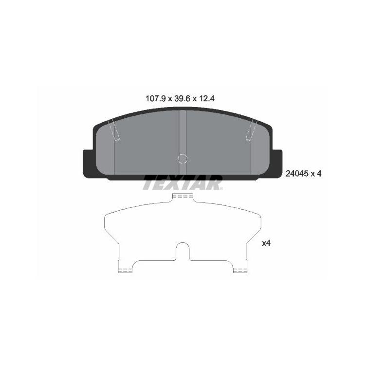 Textar Bremsbeläge hinten Mazda 323F S 626 III V 6 Premacy RX7 I II III + TD