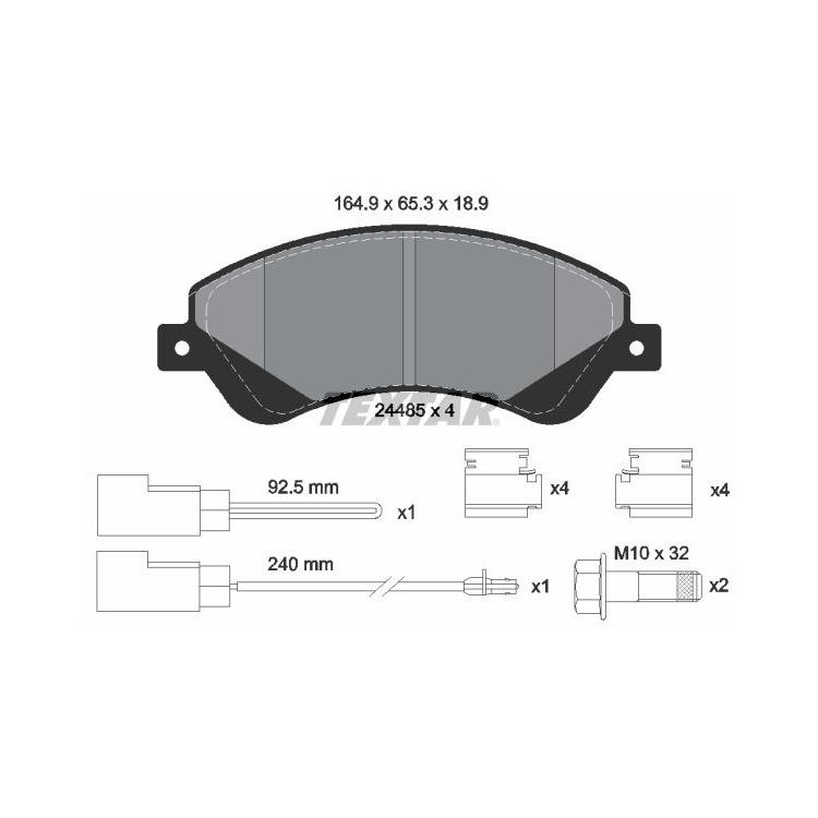 Textar Bremsscheiben + Bremsbeläge vorne für Ford Transit Bis 2,2 TDCi 260 280 300 kaufen
