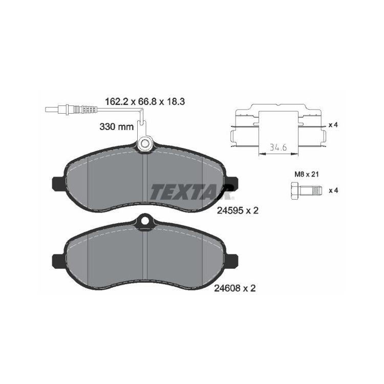 Textar Bremsbeläge vorne Citroen Jumpy Fiat Scudo Peugeot Expert Toyota