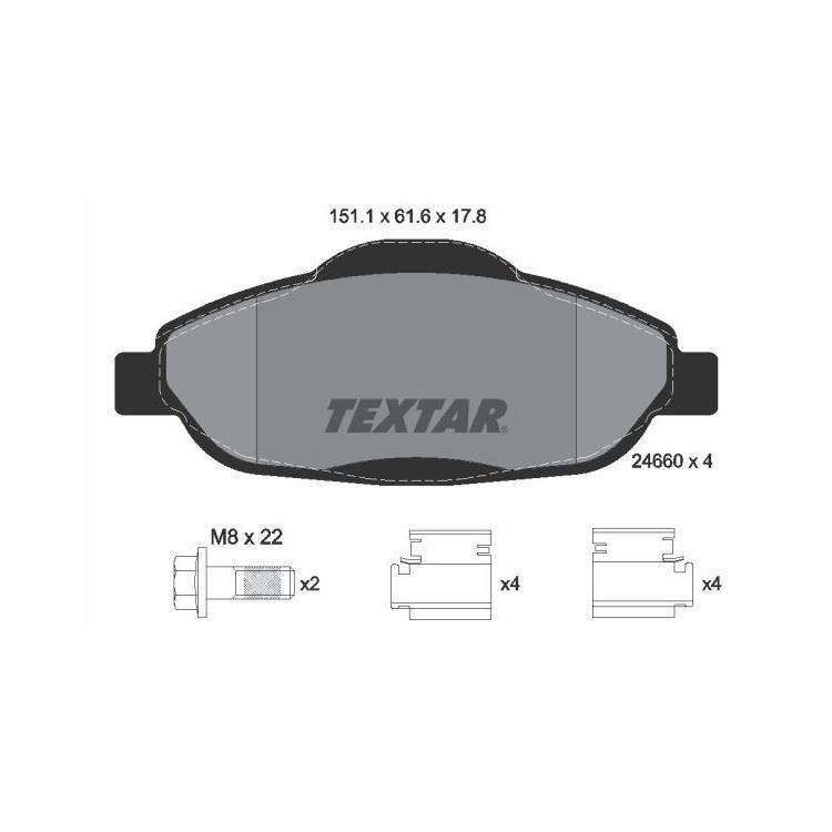 Textar Bremsbeläge vorne Peugeot 308 + SW CC 3008 1,2 - 2,0 + 16V HDi VTi