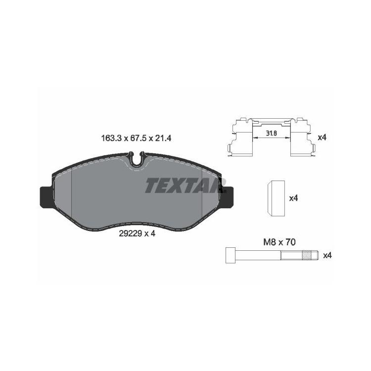 Textar Bremsscheiben + Bremsbeläge vorne für Iveco Daily IV V Kasten Pritsche kaufen