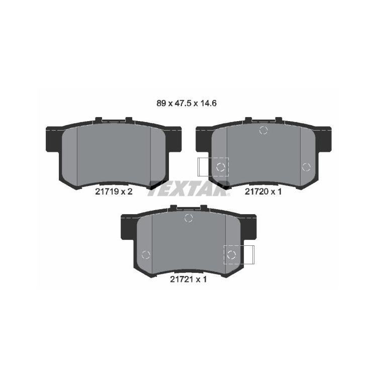 Textar Bremsscheiben + Bremsbeläge hinten Honda Civic MB MC EU EP 1,4 1,5 1,6 MG ZR ZS
