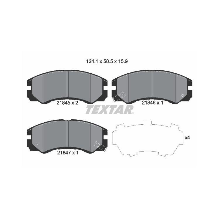 Textar Bremsbeläge vorne Isuzu Trooper Opel Frontera Monterey A B 2,0 - 3,5