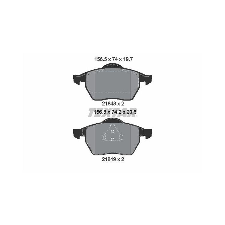 Textar Bremsbeläge vorne Ford Galaxy Seat Alhambra VW Sharan 1,9-2,8 + TDI bei Autoteile Preiswert