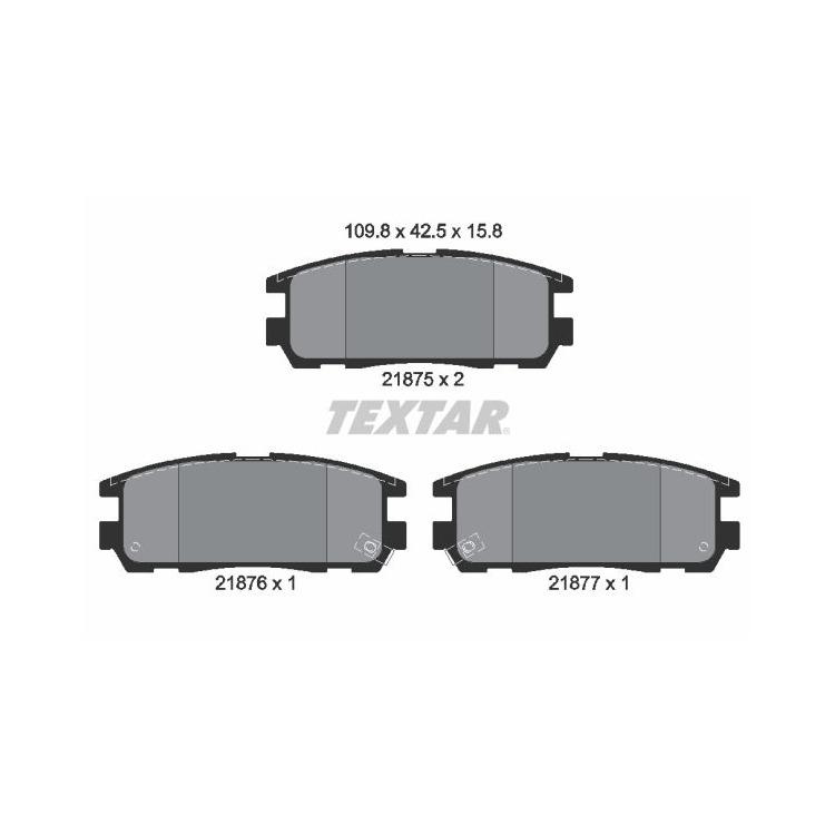 Textar Bremsbeläge hinten Isuzu Trooper Opel Frontera B Monterey A B