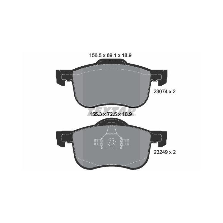 Textar Bremsbeläge vorne Volvo S60 S80 V70 XC70+D 2,0-3,0 ohne Sensor Teves