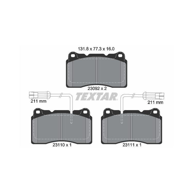 Textar Bremsbeläge vorne Alfa Romeo 166 Brera Lancia Kappa Volvo S60 V70