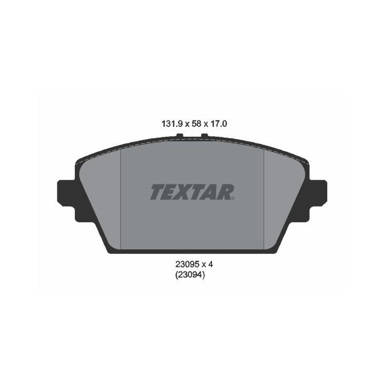 Textar Bremsbeläge vorne Nissan Almera Primera 1,6-2,2 + dCi D ohne Sensor