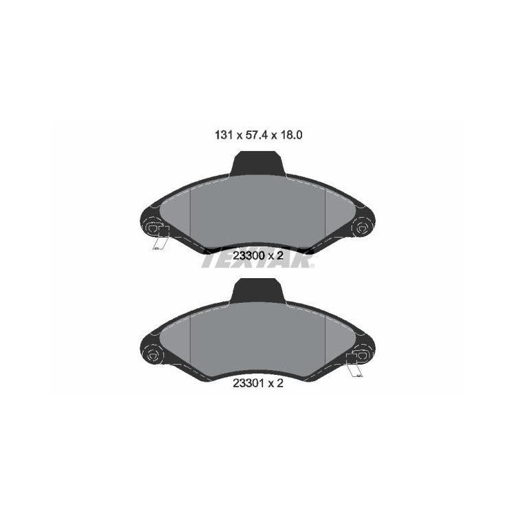 Textar Bremsbeläge vorne Ford Escort VII Classic ´95 Express 1,3-1,8 + D TD