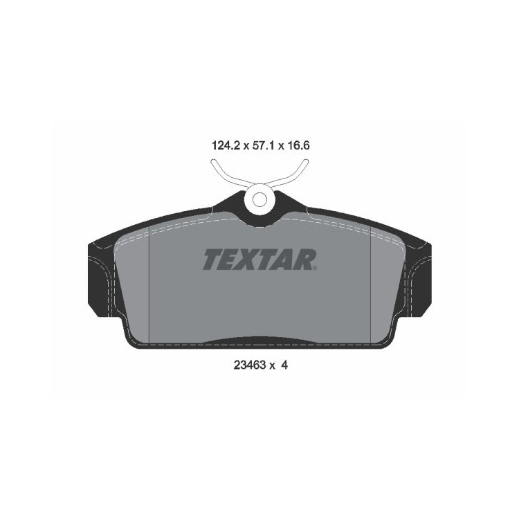 Textar Bremsbeläge vorne 2346302 im Autoteile Preiswert Shop kaufen und sparen!