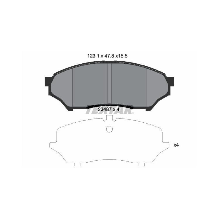 Textar Bremsbeläge vorne Mitsubishi Pajero Pinin 1,8-2,0 + GDI ohne Sensor
