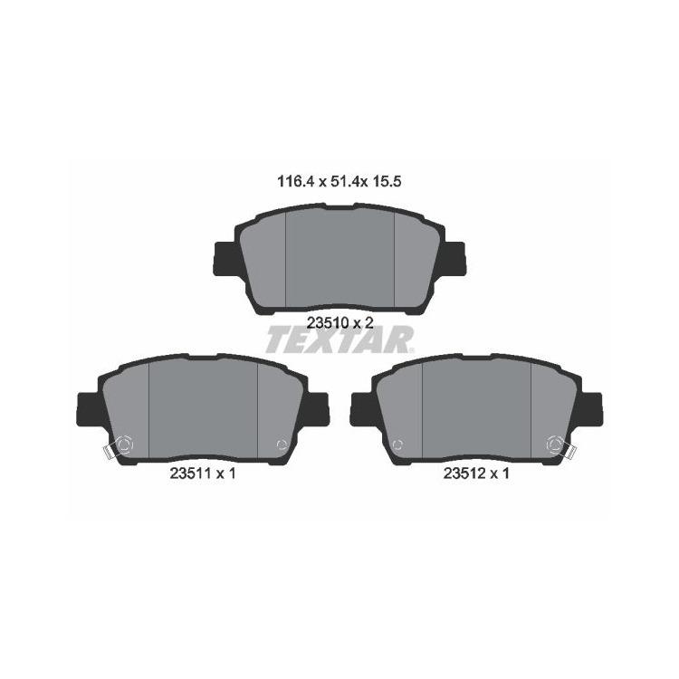 Textar Bremsscheiben + Bremsbeläge vorne Toyota Yaris + Verso