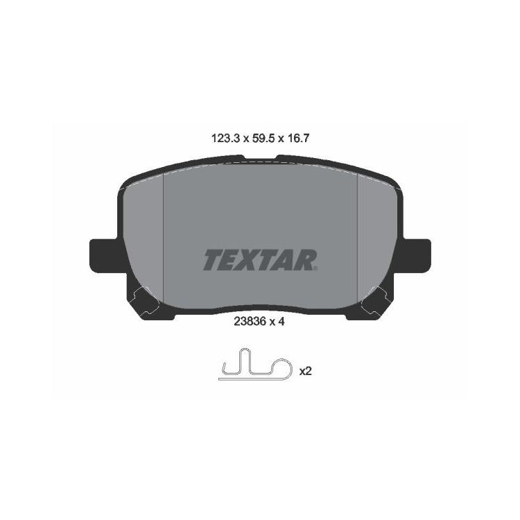 Textar Bremsbeläge vorne Toyota Avensis Verso 2,0 WT-i D-4D Akebono-Bremse