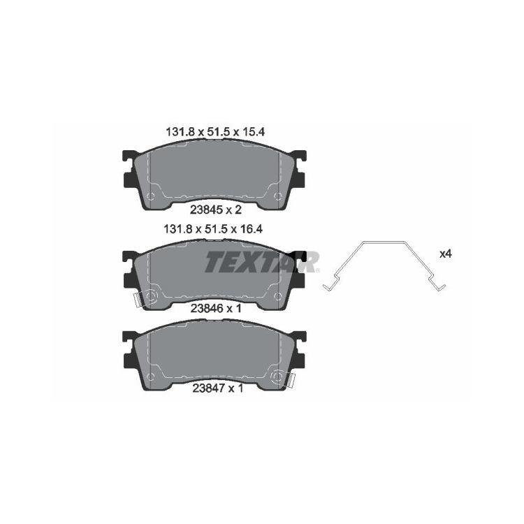 Textar Bremsscheiben + Bremsbeläge vorne für Mazda Xedos 6 MX-6 626 Premacy Ford USA Probe kaufen