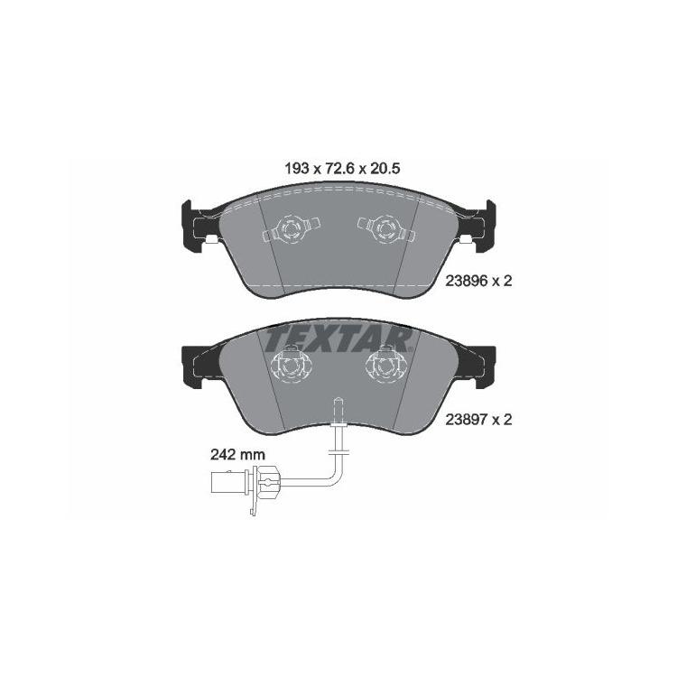 Textar Bremsbeläge vorne Audi A8 VW Phaeton 3,0-6,0 inkl. Sensor Teves