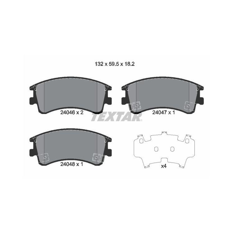 Textar Bremsscheiben + Bremsbeläge vorne Mazda 6 Hatchback GG GY 2,3