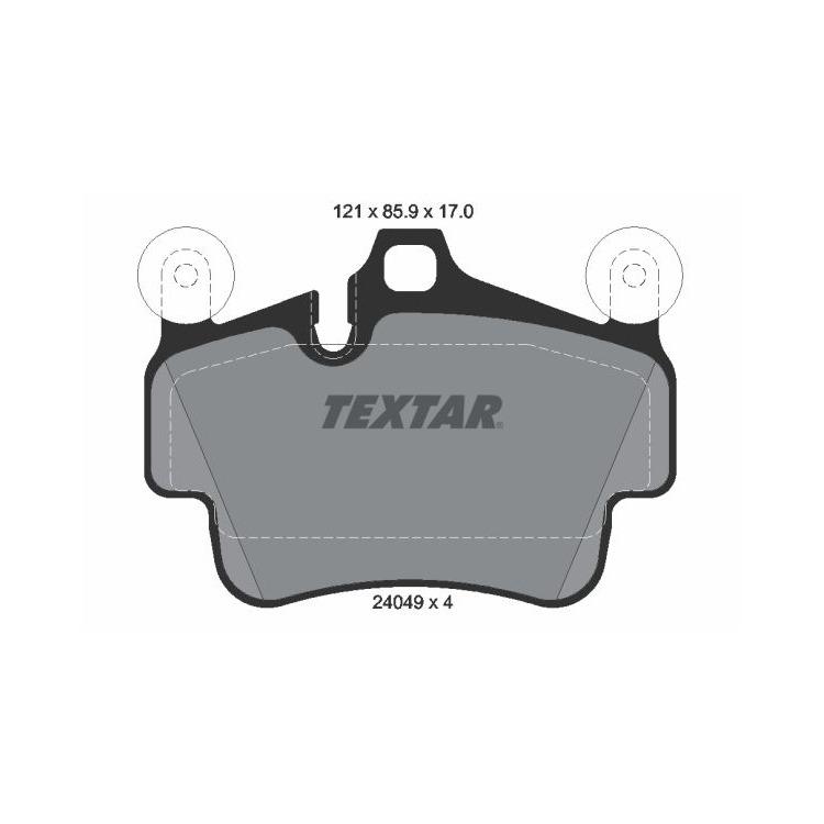 Textar Bremsbeläge vorne Porsche 911 + Cabriolet Targa Cayman 3,4 3,6