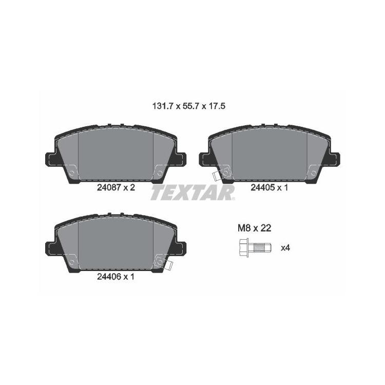 Textar Bremsbeläge vorne Honda Civic VIII 1,4 1,8 2,2 CTDi Lucas-Bremse