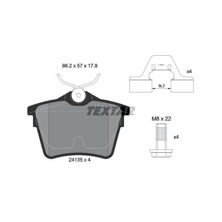 Textar Bremsscheiben + Bremsbeläge hinten für Citroen C5 Peugeot 407 607 mit elektr. Handbremse kaufen