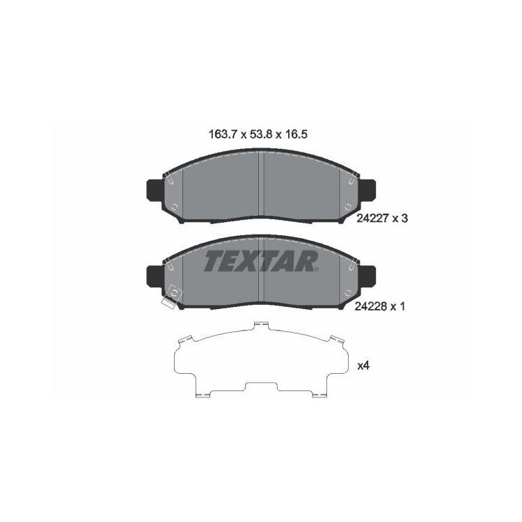 """Textar Bremsscheiben + Bremsbeläge vorne Nissan Navara Pathfinder mit 16"""" Felgen"""