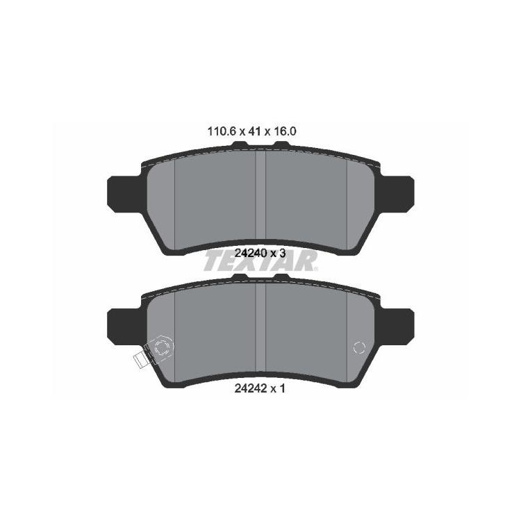 Textar Bremsscheiben + Bremsbeläge hinten Nissan Navara Pathfinder 2,5 3,0 4,0 dCi