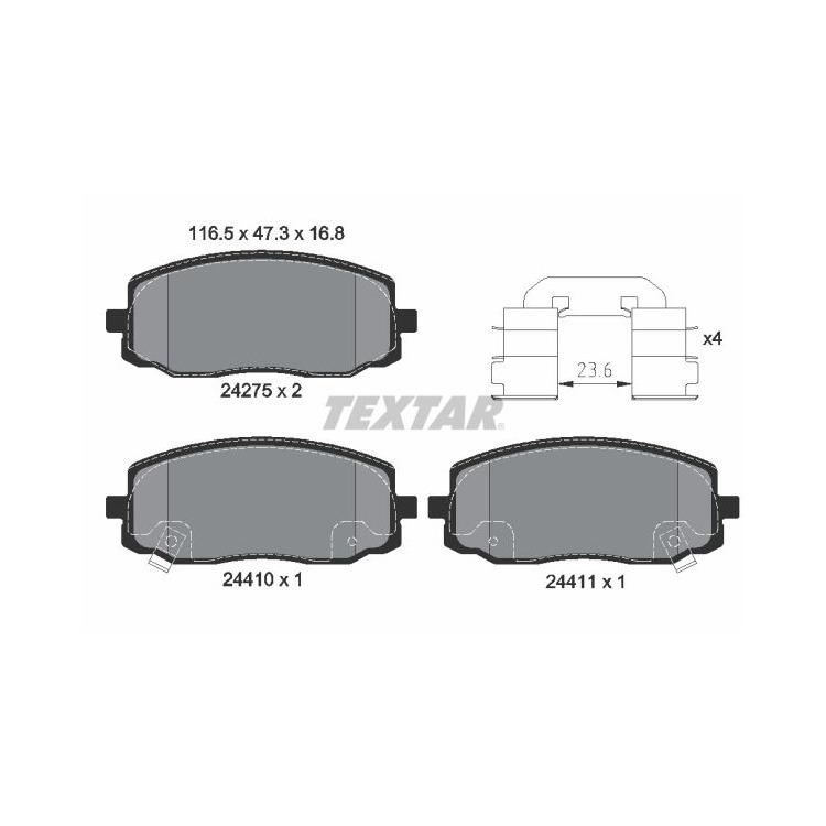 Textar Bremsbeläge vorne Hyundai i10 Kia Picanto 1,0 - 1,2 + CRDi bei Autoteile Preiswert
