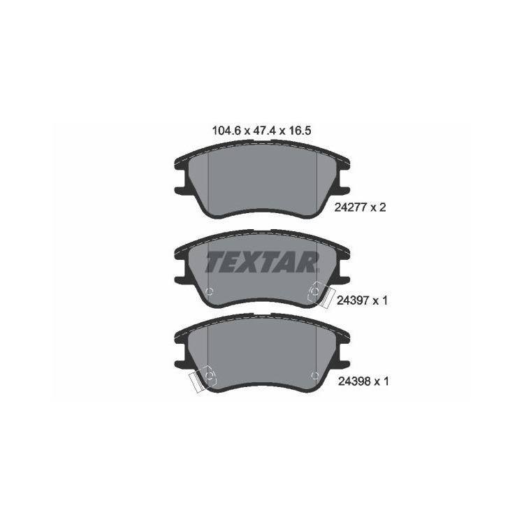 Textar Bremsscheiben + Bremsbeläge vorne Hyundai Atos + Prime 1,0 1,1