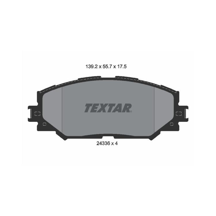 Textar Bremsscheiben + Bremsbeläge vorne Toyota Auris Corolla 1,33 1,4 1,6