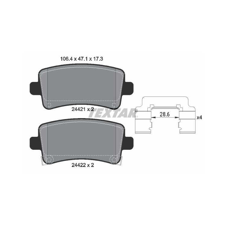 """Textar Bremsscheiben + Bremsbeläge hinten für Chevrolet Malibu Opel Insignia 17 17+ 18"""" Bremse kaufen"""