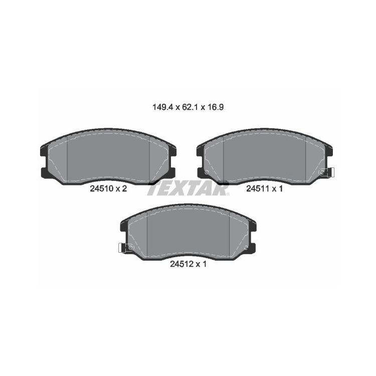 Textar Bremsscheiben + Bremsbeläge vorne Chevrolet Captiva Opel Antara