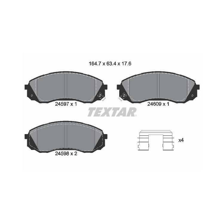 Textar Bremsbeläge vorne 2459701 bei Autoteile Preiswert