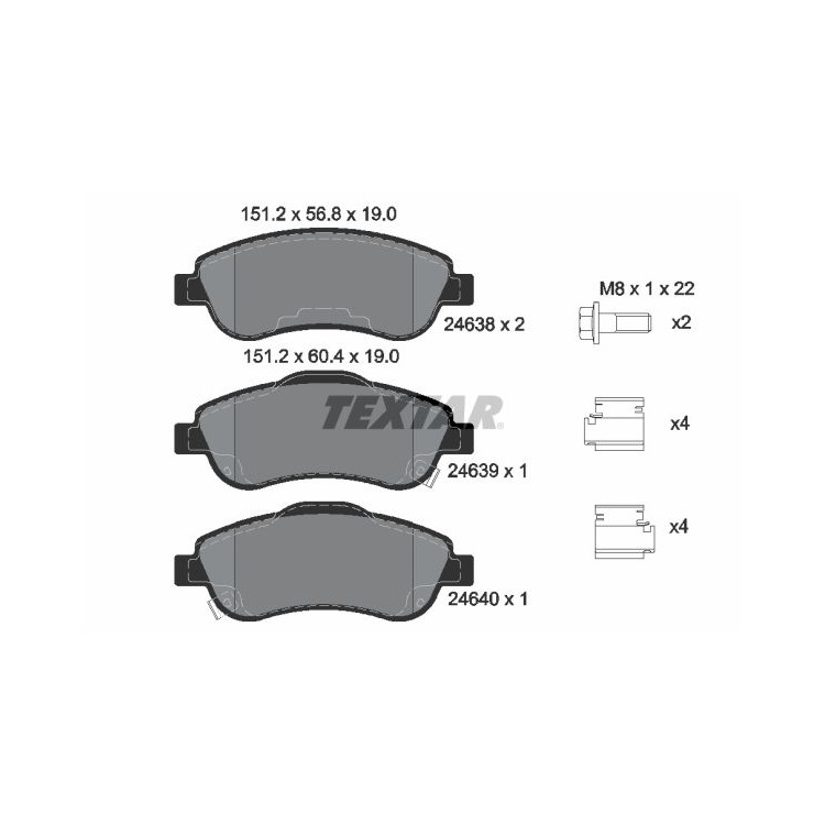 Textar Bremsscheiben + Bremsbeläge vorne Honda CR-V 1,6 2,0 2,2 2,4