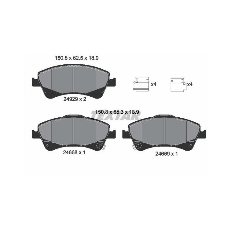 Textar Bremsscheiben + Bremsbeläge vorne für Toyota Auris Avensis T27 Verso kaufen
