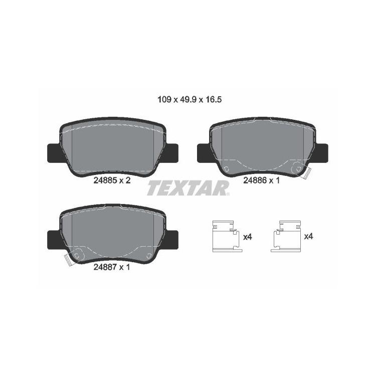 Textar Bremsbeläge hinten 2488501 bei Autoteile Preiswert
