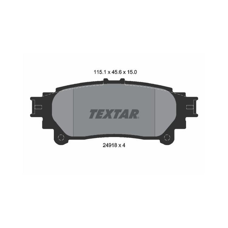 Textar Bremsbelagsatz vorne 2491801 im Autoteile Preiswert Shop kaufen und sparen!