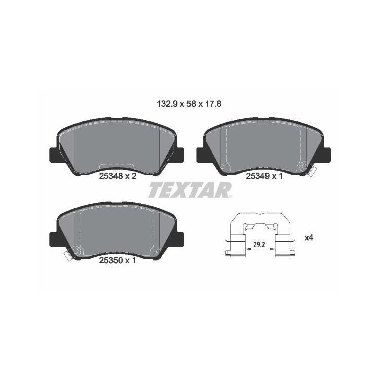 Textar Bremsbeläge vorne Hyundai Accent IV i20 Kia Rio III 1,1 - 1,6 + CRDi bei Autoteile Preiswert