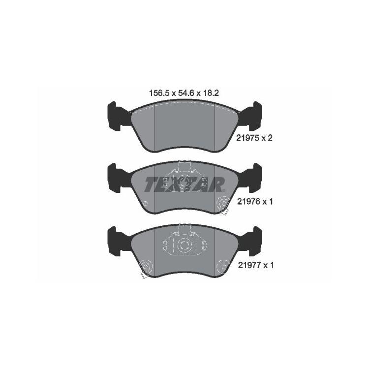 Textar Bremsbeläge vorne Toyota Avensis T22 1,6-2,0 Teves-Bremse