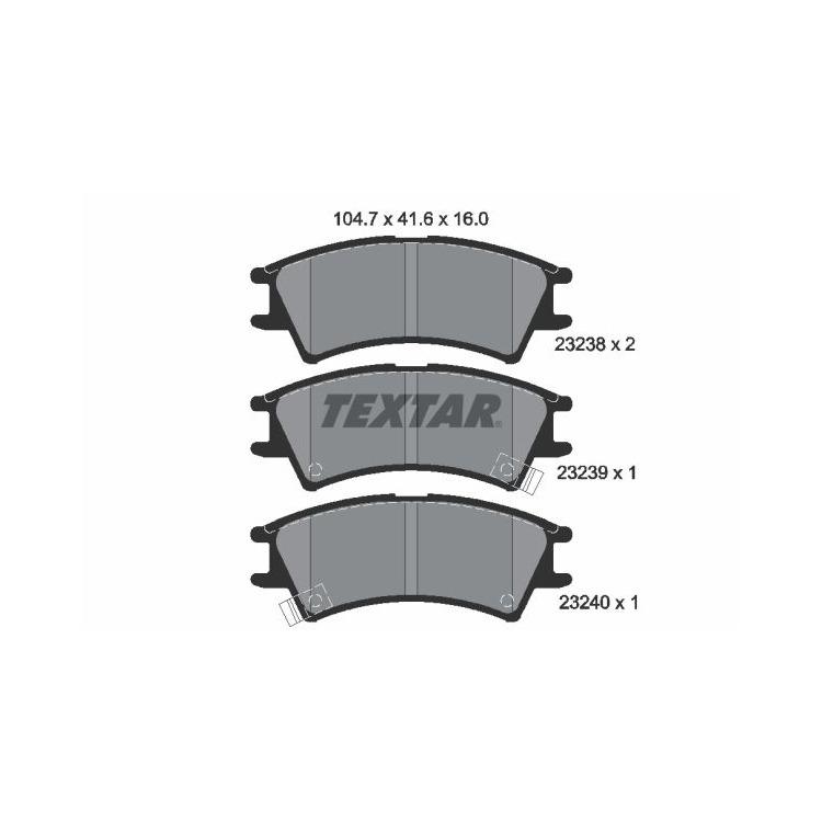 Textar Bremsbeläge vorne Hyundai Atos + Prime MX 1,0 Mando-Bremse