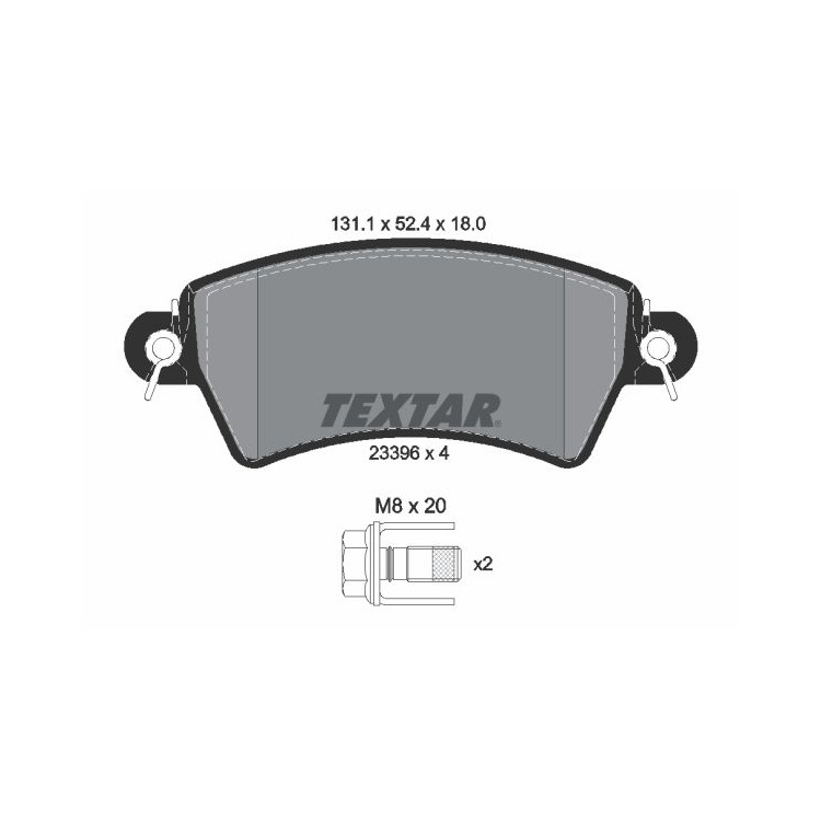 Textar Bremsbeläge vorne Citroen Xsara Peugeot 206 306 1,6-2,0