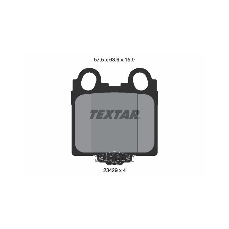 Textar Bremsbeläge hinten Lexus GS IS I + SportCross SC 300-430 Sumitomo