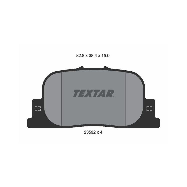 Textar Bremsscheiben + Bremsbeläge hinten Toyota Prius ab 08/2004