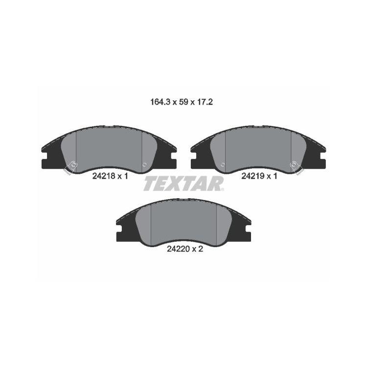 Textar Bremsbeläge vorne Kia Cerato LD 1,5 - 2,0 + CRDi Mando-Bremse