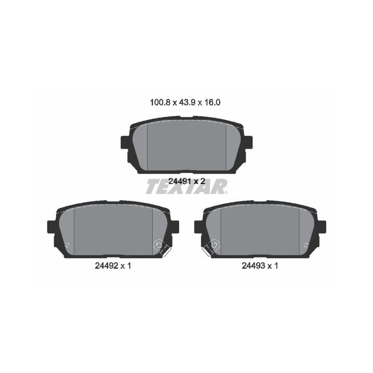 Textar Bremsbeläge hinten Kia Carens III 110 - 140 1,6 - 2,0 CRDi + CWT