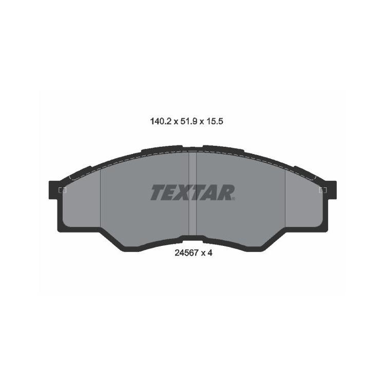 Textar Bremsbeläge vorne Toyota Hilux III 2,5 D-4D + 4WD
