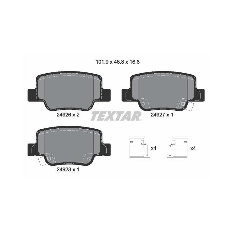 Textar Bremsscheiben + Bremsbeläge hinten Toyota Verso 1,6 1,8 2,0 2,2