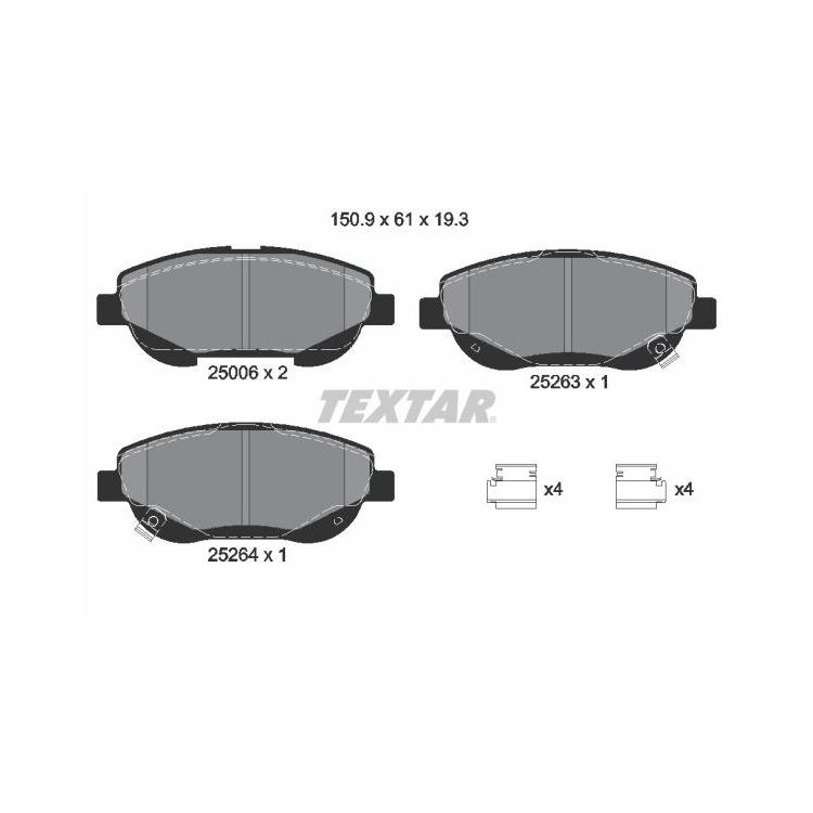 Textar Bremsscheiben + Bremsbeläge vorne für Toyota Avensis T27 2,2 D-4D kaufen