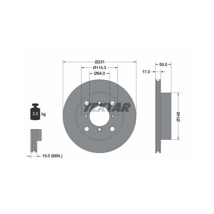 Textar Bremsscheiben + Bremsbeläge vorne Suzuki Swift + 2 Alto Subaru Justy 2 1,0 1,3